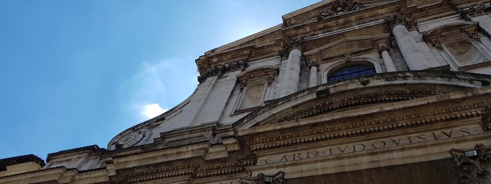 Particolare della facciata della chiesa di sant'Ignazio in Campo Marzio a Roma