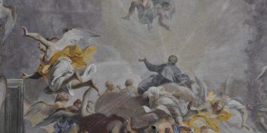 Affresco della volta della chiesa di sant'Ignazio a Roma, raffigurante sant'Ignazio tra gli angeli, opera di Andrea Pozzo