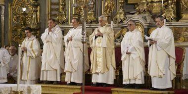 Messa di apertura del giubileo dedicato a san Luigi Gonzaga, celebrata dal padre generale della Compagnia di Gesù Arturo Sosa (9 marzo 2018)
