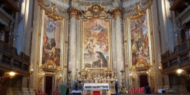 Il presbiterio della chiesa di sant'Ignazio a Roma decorato da Andrea Pozzo