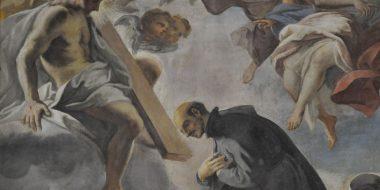Particolare delle decorazioni della chiesa di sant'Ignazio a Roma raffigurante sant'Ignazio di Loyola