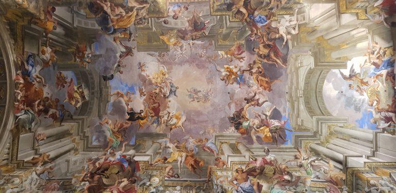Affreschi della volta della chiesa di sant'Ignazio a Roma, opera di Andrea Pozzo